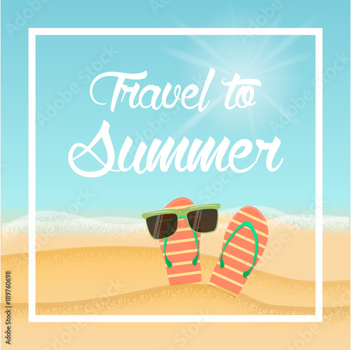 Foto op Plexiglas Turkoois Travel to summer
