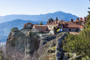 Fototapeta na wymiar Saint Stephen Monastery in the Meteora, Thesally, Greece.