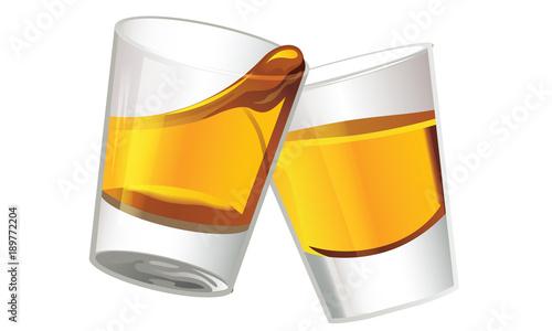 Cuadros en Lienzo  Whiskey Shot Glasses