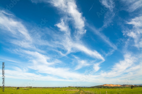 Photo Clouds over Sardinia cuntryside