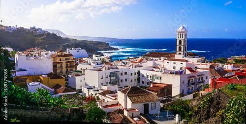 Canvas Prints Canary Islands Tenerife holidays and landmarks - beautiful coastal town Garachico, Canary islands of Spain