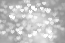 Heart Shapes Bokeh Background