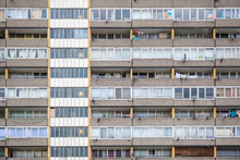 Facade Of Old Council Tower Block In South East London