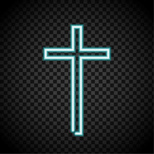 Neon Cross, Glowing Cross, Rel...