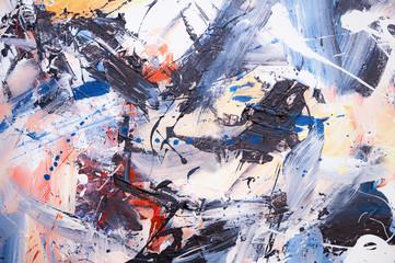 Öl gemalter Abstrakter Hint...