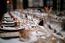 Set Tables For Fancy Dinner In...