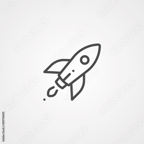 Rocket icon Fotobehang