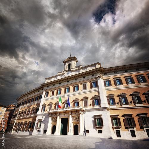 Plakat Montecitorio, Izba Deputowanych, Rzym