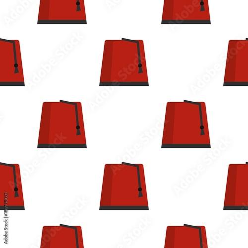 Red turkish fez pattern seamless Wallpaper Mural