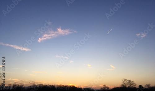 Obraz winter sky at dusk - fototapety do salonu