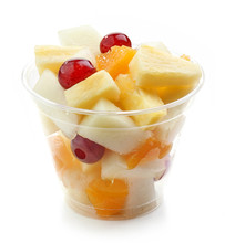 Fresh Fruit Pieces Salad In Pl...