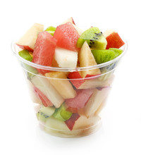 Fresh Fruit Pieces Salad In Pl...