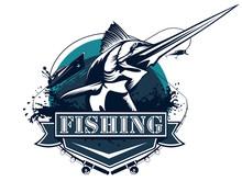 Sword Fishing Logo Big