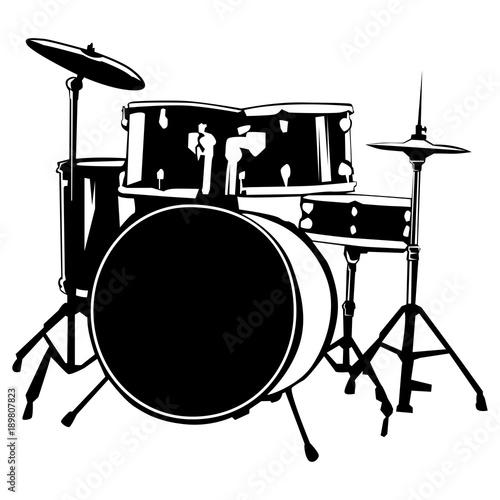 Canvastavla  Drums isolated on white