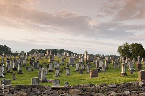 Photo Large Graveyard in the Country