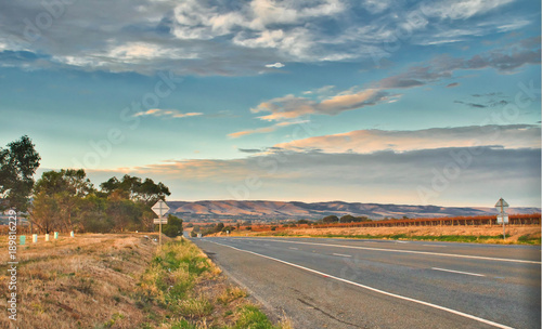 Papiers peints Cote scenic rural country road with vineyard along the side