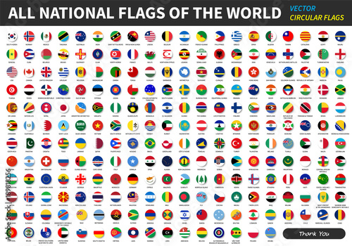 All official national flags of the world Slika na platnu