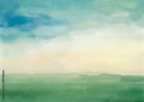 Canvas Prints Green coral Artistic Painting Background