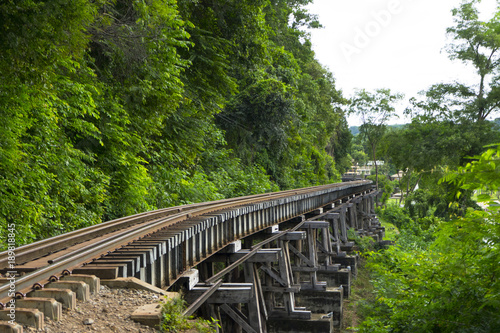 Fotografie, Tablou  Death Railway Old railway at Hellfire Pass in Kanchanaburi, Thailand