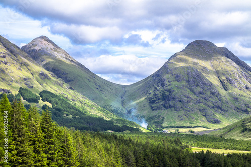 Highland hills in Glen Etive Wallpaper Mural