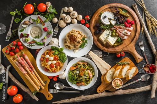 Fotografia, Obraz イタリアンパスタ Fettuccine pasta Italian cuisine