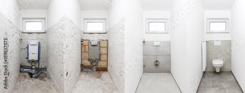 Fototapeta Toilettensanierung obraz