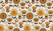 Simple Geometric Floral Seamle...