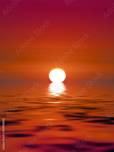 Poster Cuban Red Golden Sunset