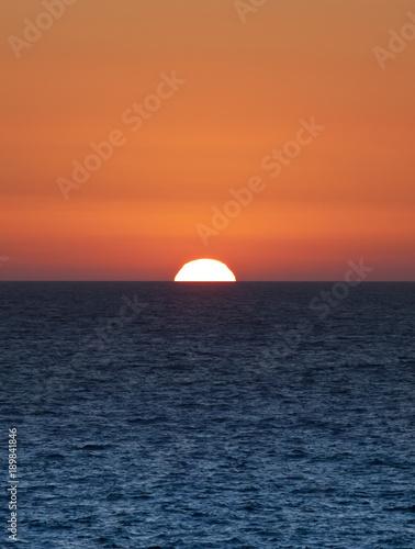 Deurstickers Oranje eclat Golden Sunset