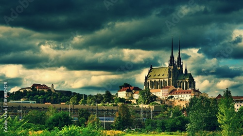 The icons of the Brno city's ancient churches, castles Spilberk Wallpaper Mural