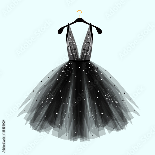 Tablou Canvas Black fancy dress for special event with decor