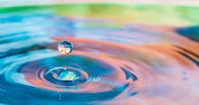 Colorful Water Droplet Splash Photograph