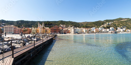 City on the water Laigueglia, view from the sea