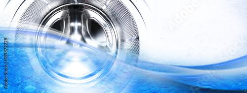Leinwand Poster Waschmaschine