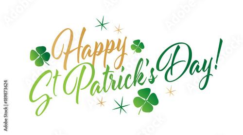 Obraz na płótnie Happy Saint Patrick's day