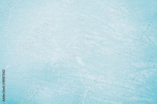Ice Texture on Skating Rink - Blue Canvas Print