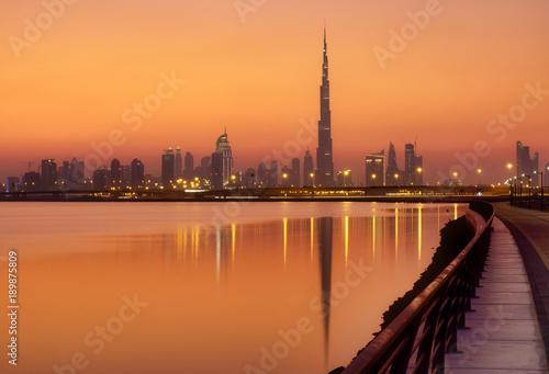 Burj Khalifa in the golden hour - Dubai Canvas Print