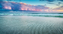 Pink Clouds Over The Ocean