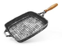Vintage Grill Pan On A White B...