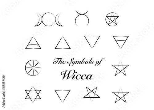 Set of Witches runes, wiccan divination symbols  Ancient