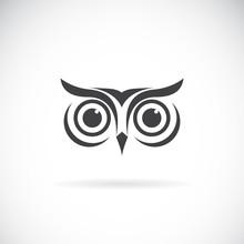 Vector Of An Owl Face Design O...