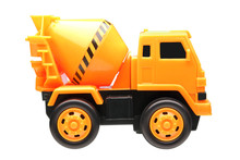 Yellow Cement Truck Toy Isolat...