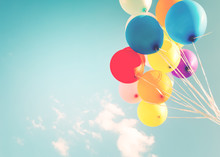 Colorful Balloons Done With A ...