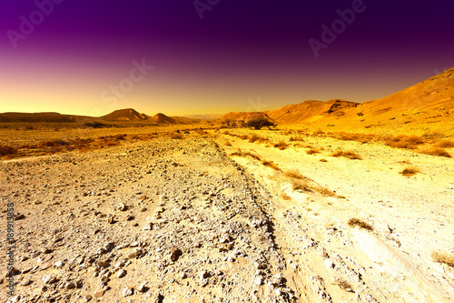 Foto op Aluminium Zwavel geel Colorful Middle East at sunset