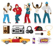 Rap Singers Accessories Flat S...