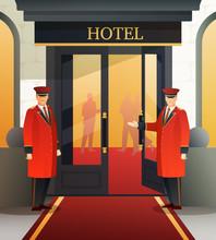 Hotel Doormen Flat Composition