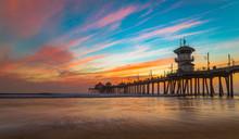 Sunset By The Huntington Beach...