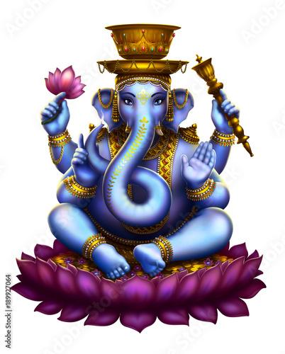 Photo Ganesha white background
