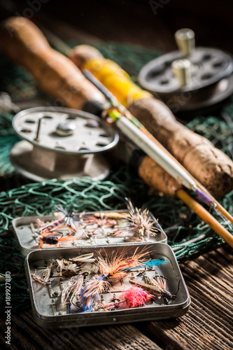 Handmade equipment for fishing with fishing rod and lures
