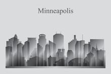 Minneapolis City Skyline Silho...